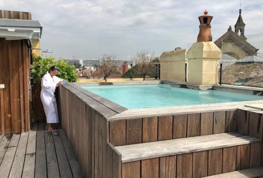 Hotel La Course in Bordeaux: Wellness-Bereich mit Hammam und Fitnessraum