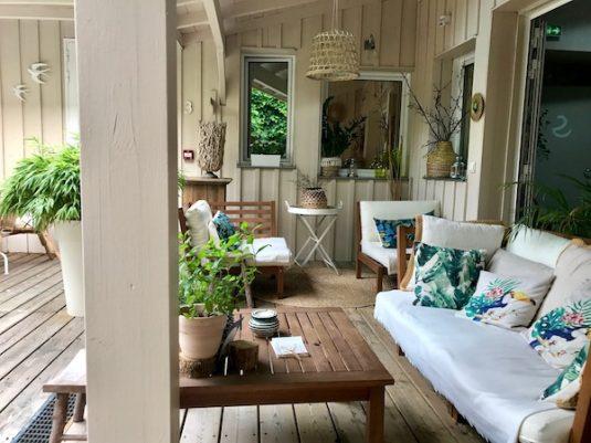 Tropischen Innenhof der Maison du Lierre in Bordeaux