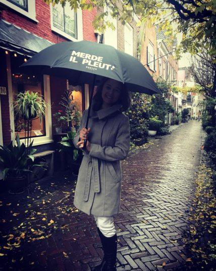 Regenschirm Merde Il Pleut von Breizh.world