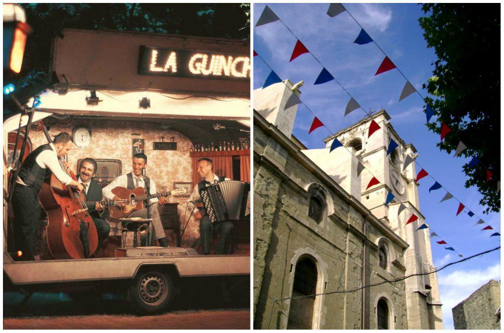 La Guinche Sommerfestivals und Märkten in Frankreich.