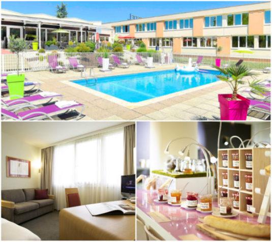 Hotel mit Schwimmbad in der Nähe von Dijon
