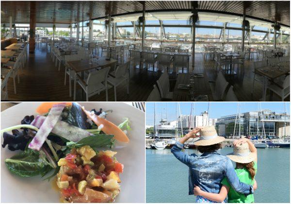 Cafe Restaurant vom Aquarium von La Rochelle an der Atlantikküste