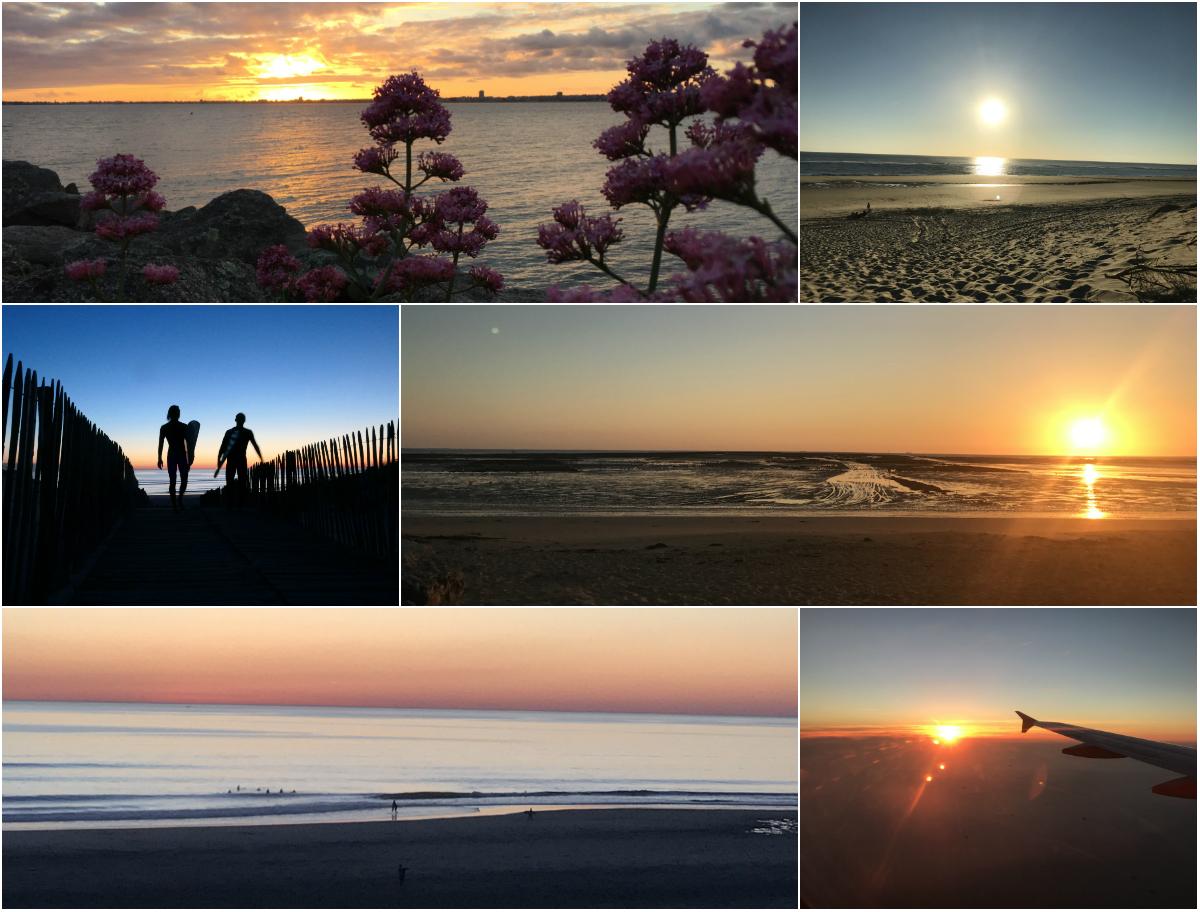 Sonnenuntergänge an der Atlantikkueste