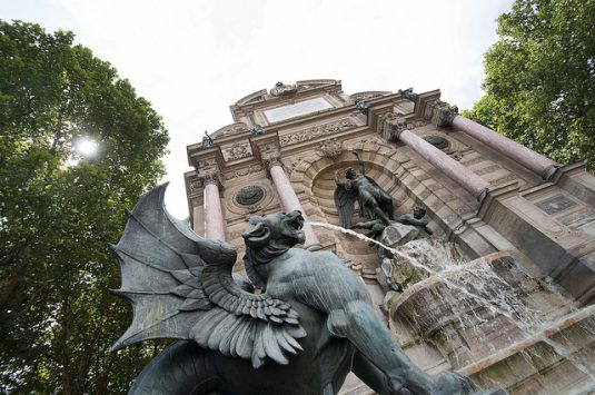 paris Brunnen saint michel quartierlatin cc tom kelly