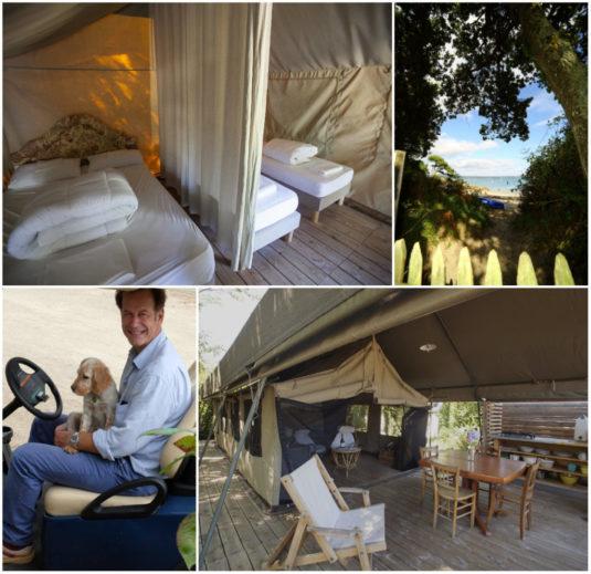 Campingplatz direkt am Meer und Strand in der Bretagne