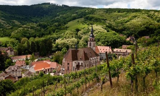 Elssass Weinstrassen im Herbst