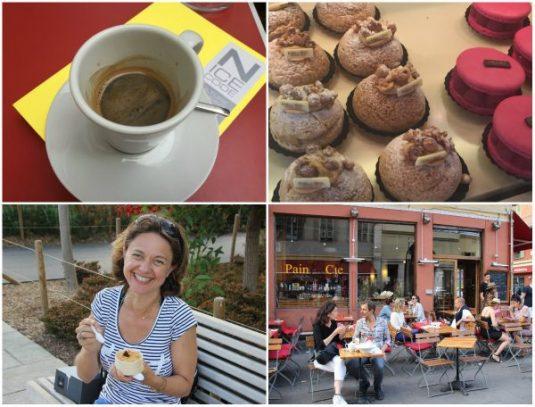 Kaffe und Kuchen in Nizza - Südfrankreich