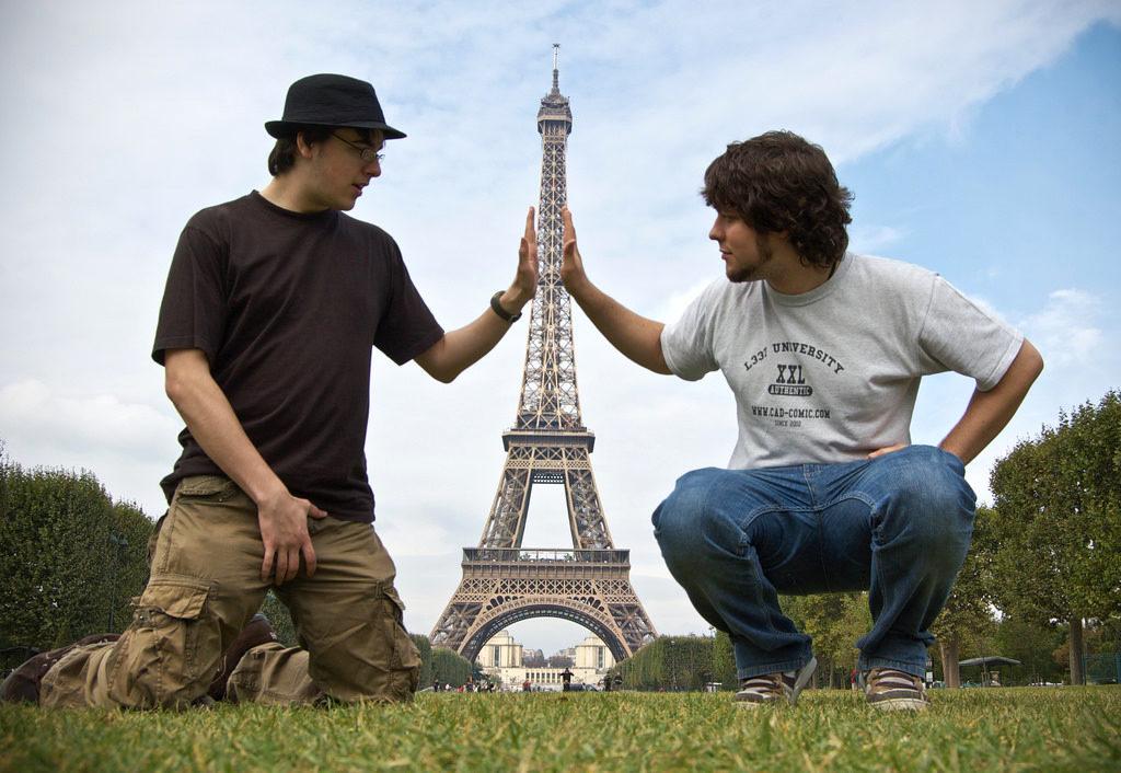 Eiffelturm Paris komisch cc Ben Smith