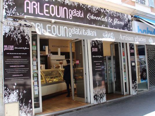 Eisdille Arlequin in Nizza