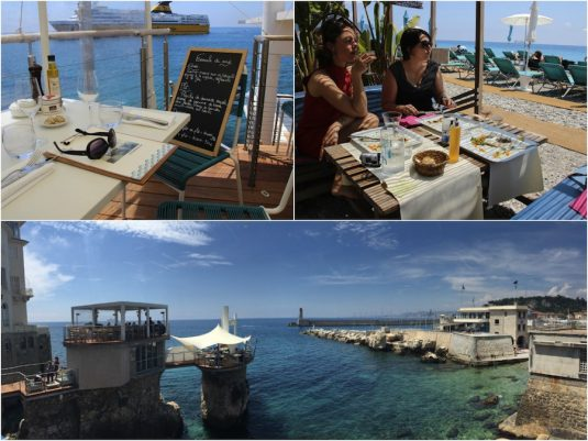 Mittagessen in Nizza - Restaurants am Strand