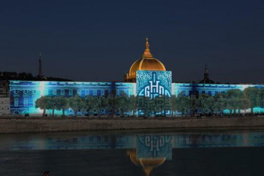 Grand Hotel Dieu in Lyon - Lichtfestival
