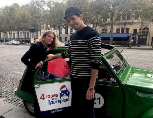 2CV-Touren durch Paris: Nicky und Jean-Baptiste, unser Chauffeur