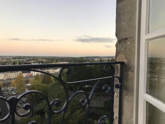 Aussicht auf Le Mans und den Fluss Sarthe