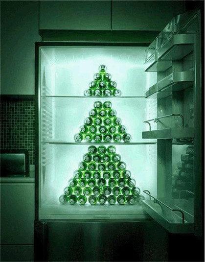 Bierflaschen - Tanenbaum - Kühlschrank