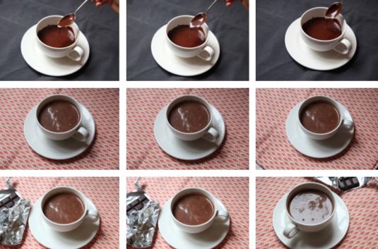 Heisse Schokoladenmilch