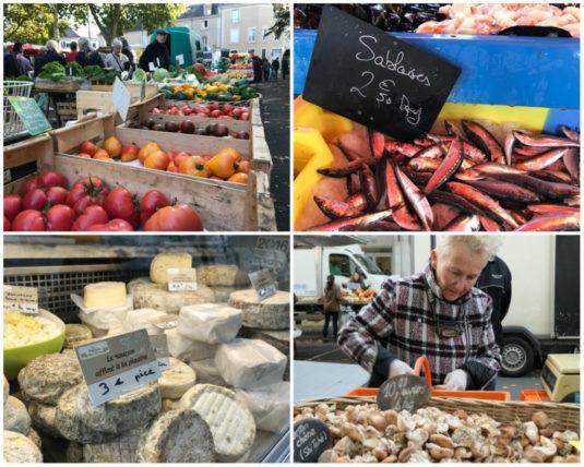 Angers - Markt mit frischen Produkten