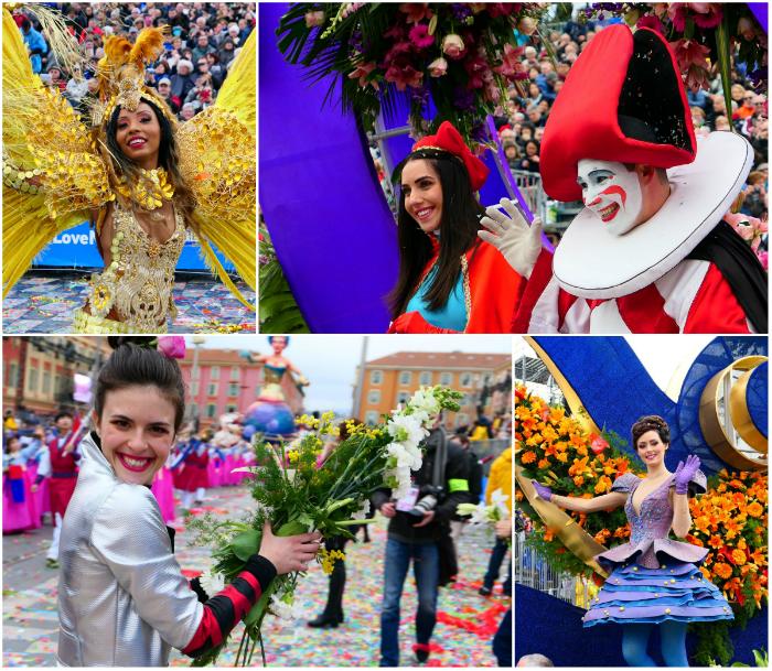 Karneval in Nizza mit Blumen aus der Region
