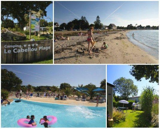 Campingplatz direkt am Strand in der Bretagne