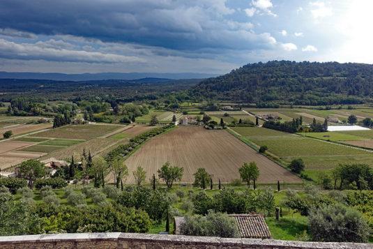 Landschaft östlich von Ménerbes