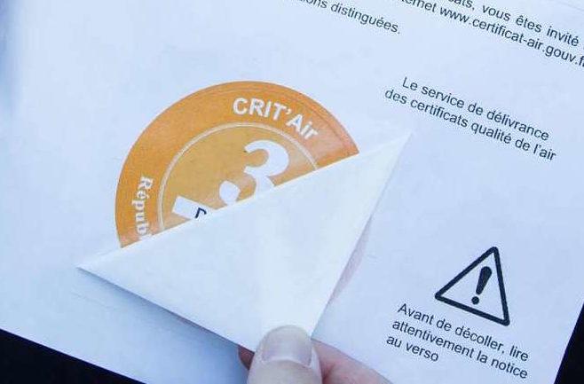 Französische Umweltplakette Crit'Air