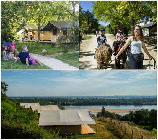 Natur-Campingplatz Huttopia Saumur (Loiretal mit Blick auf den Fluss)