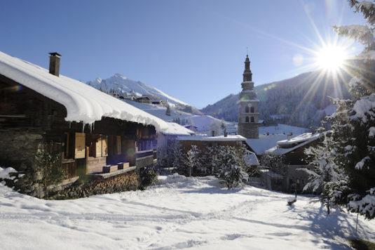 Dorf La Clusaz in Frankreich