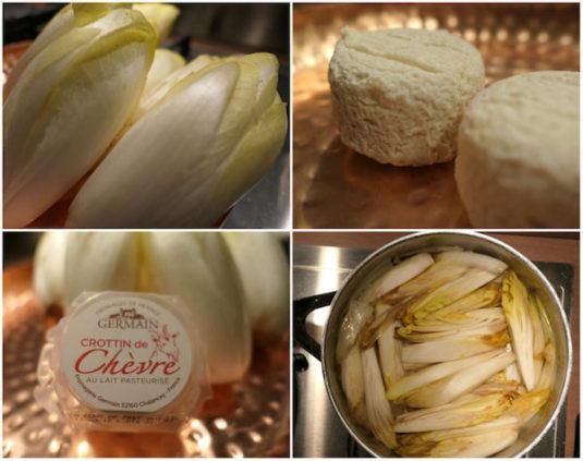 Rezept und Zutaten fuer Tarte Tatin mit Chicoree und Ziegenkaese