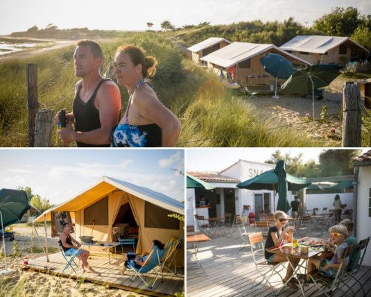 Campingplatz auf der Ile de Ré direkt am Strand