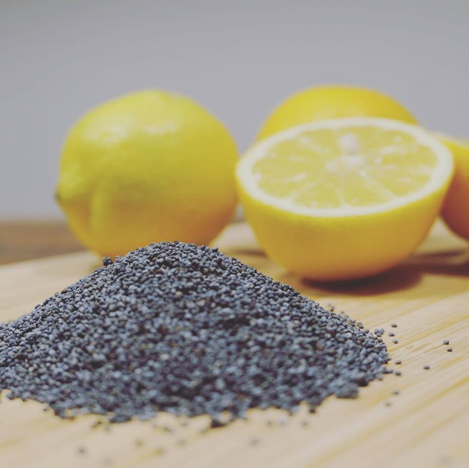Zitrone Mohnsamen für Kuchen