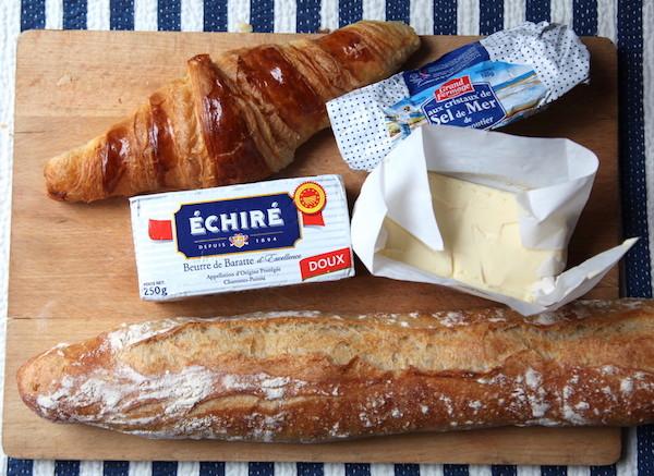 Baguette, Croissant und Französische Butter