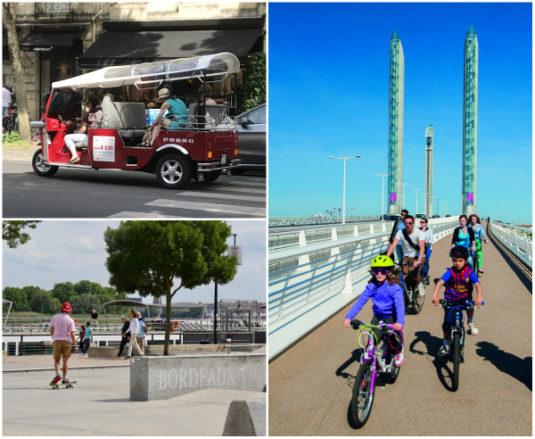 Bordeaux mit dem Fahrrad mit Kindern