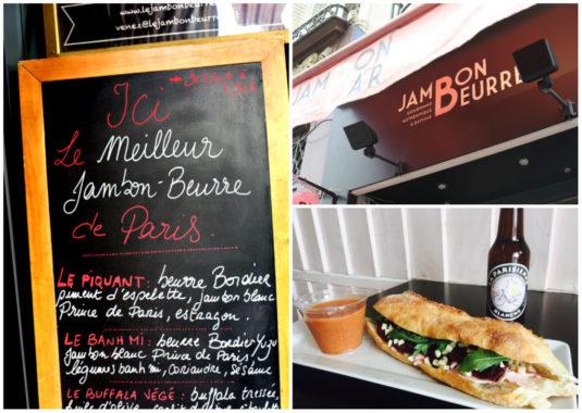 Jambon-beurre, Schinken-Baguette in Paris
