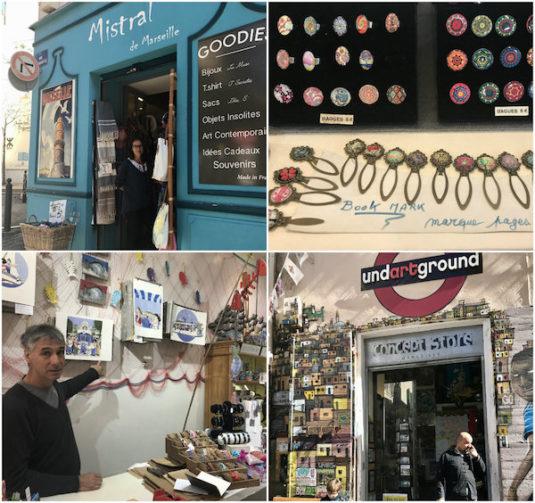 Schöne Geschäfte im Viertel Le Panier