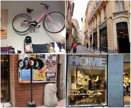 Nebenstraßen der Rue de Metz: Shopping in Toulouse
