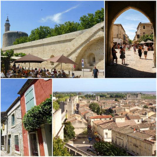 Dorf Aigues-Mortes (Departement Gard, Camargue)
