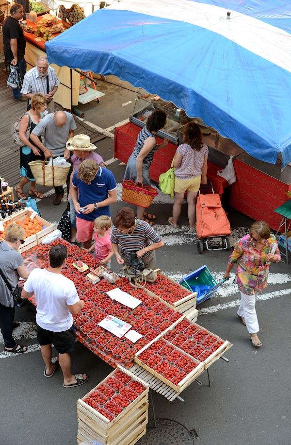 Samstagsmarkt in Figeac