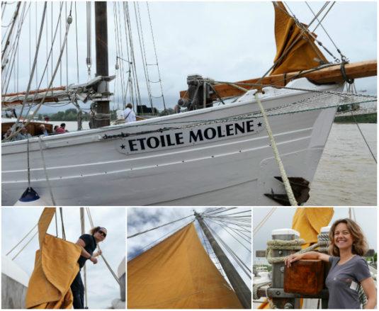 Carole auf dem Segelschiff Molene