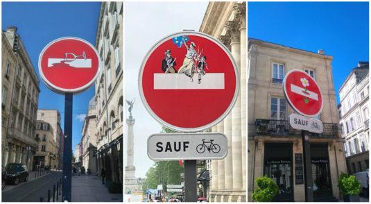Streetart in Bordeaux - Clet Abraham