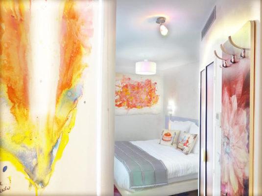 Schlafzimmer vom Hotel Le Pavillon in Paris