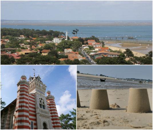 Cap Ferret Strand und Kirche