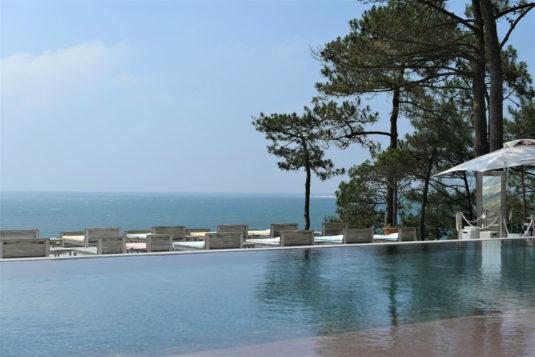 Schwimmbad vom Hotel La Co(o)rniche Pyla sur Mer