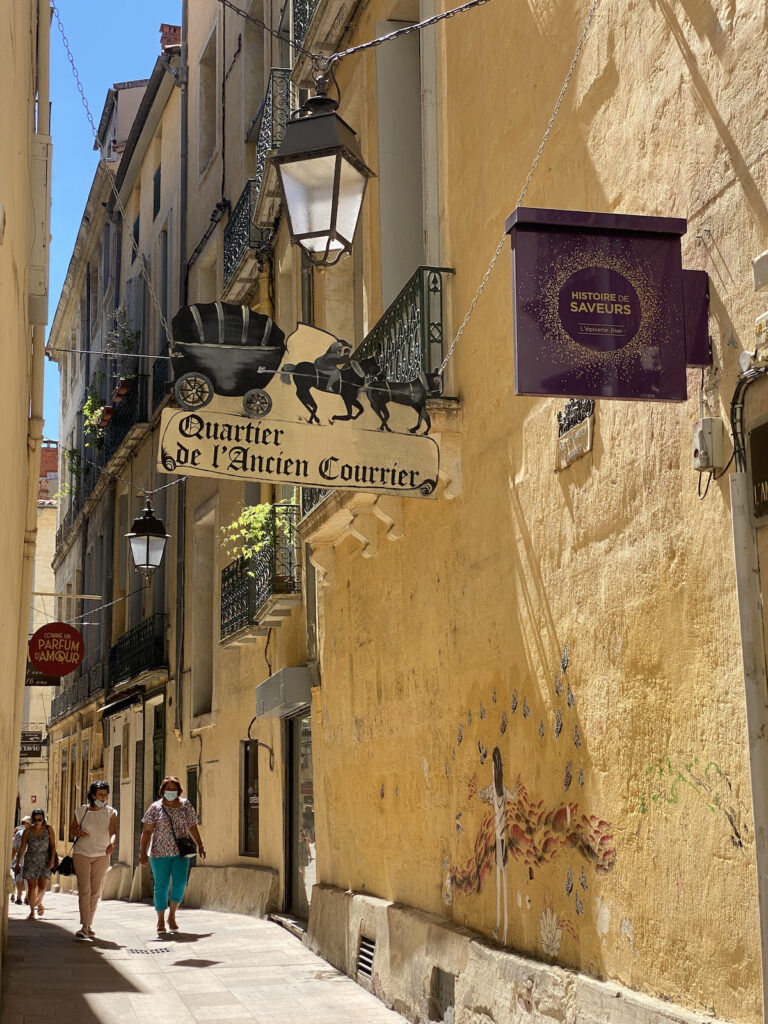 quartier ancien courrier Montpellier
