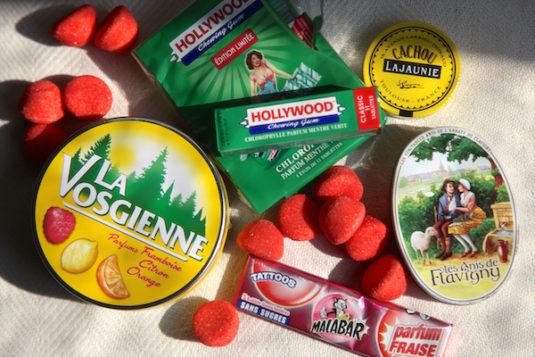 französischen Süßigkeiten Aufsicht