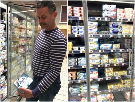Yoghurt Danone französisch Supermarkt