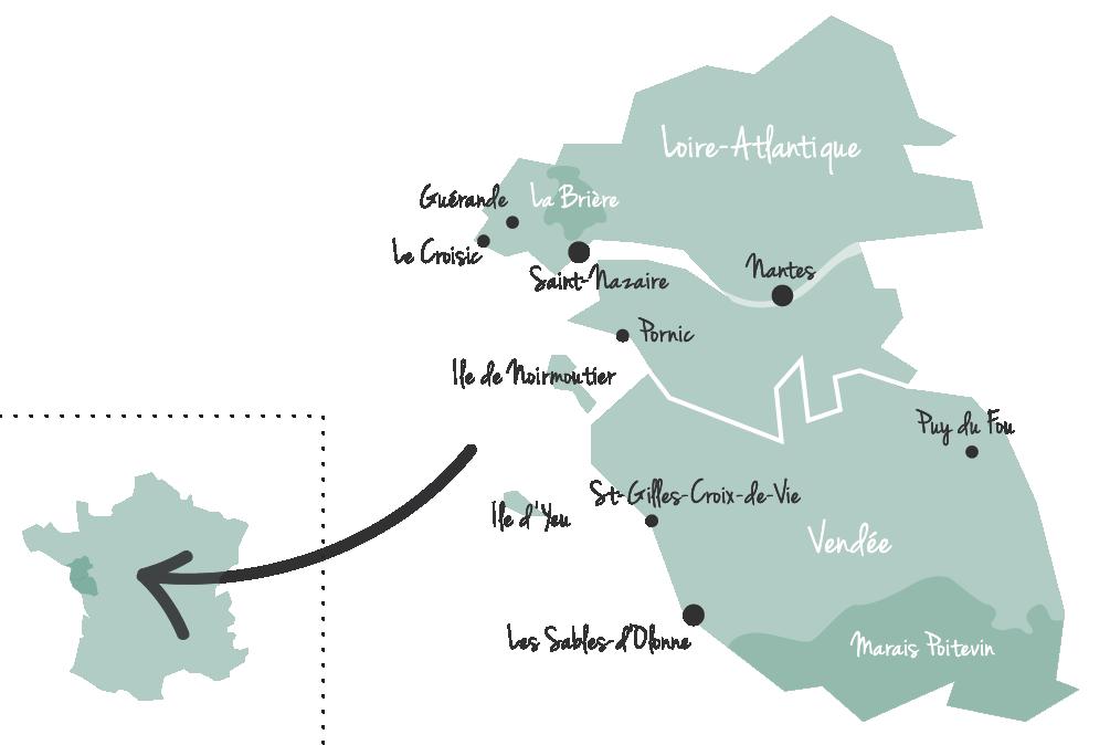 Vendée Loire Atlantique Maps