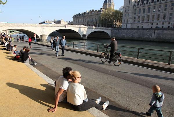 Die Ufer der Seine in Paris