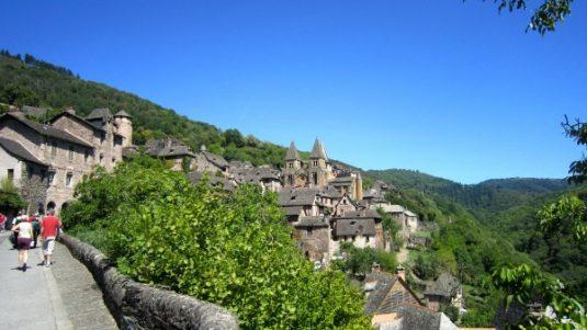 Der französische Abschnitt der Pilgerroute nach Santiago de Compostela
