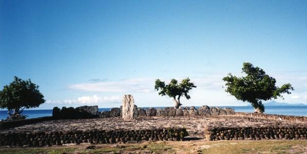 Die religiösen Stätten und Gebäude von Taputapuātea in Französisch-Polynesien