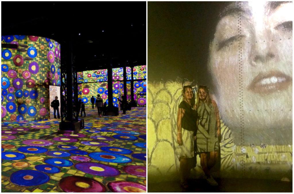 Atelier des Lumières in Paris Klimt Ausstellung