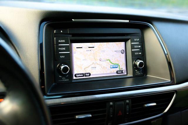 GPS Navigation auf dem Weg Frankreich